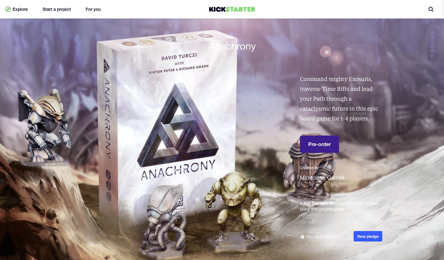 Anachrony Unboxing